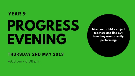 Year 9 Progress evening